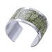 Silver Bangle Aqua Green Snake