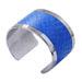 Silver Bangle Blue Python
