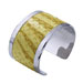 Silver Bangle Yellow Python